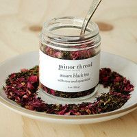 Organic Assam Black Tea with Spearmint and Red Rose - 4 oz jar