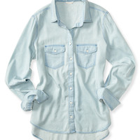 Long Sleeve Core Chambray Woven Shirt