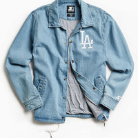 Starter X UO Los Angeles Denim Coach Jacket - Urban Outfitters