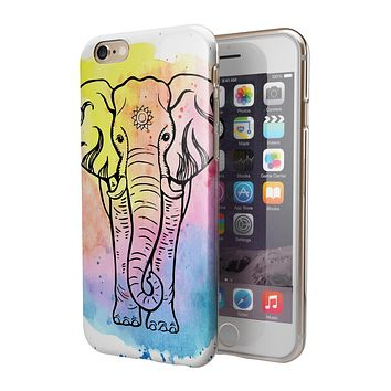 Sacred Elephant Watercolor 2-Piece Hybrid INK-Fuzed Case for the iPhone 6/6s or 6/6s Plus