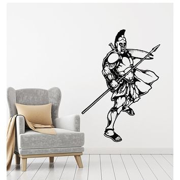 Vinyl Wall Decal Warrior Middle Ages Soldier Military Army Stickers Mural (g3926)