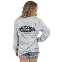 Mizzou Long Sleeve Stadium Tee in Heather Grey by Lauren James