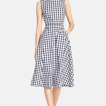 Women's Tanya Taylor 'Monica' Gingham Fit & Flare Dress,