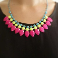 Colorful stoned necklace from LolaRosy