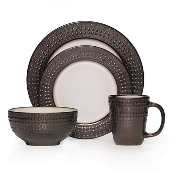 Mikasa Gourmet Basics Avery 16-pc. Dinnerware Set (Brown)