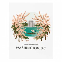 Washington D.C. Art Print by RIFLE PAPER Co.   Made in USA