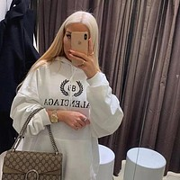 Balenciaga Women Hot Hoodie Cute Sweater