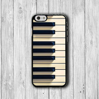 Vintage Classic Piano Key iPhone 6 Cover, Music iPhone 6 Plus, iPhone 5/5S, iPhone 4/4S Hard Case, Rubber Deco Accessories Gift Music Lover
