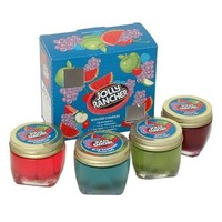 JOLLY RANCHER SCENTED GEL CANDLE SET OF 4 GLASS 1.5 OZ CANDLE'S NEW IN BOX