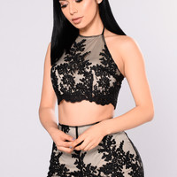 Loyalty To Embroidery Set - Black/Nude