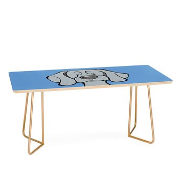 Angry Squirrel Studio Weimaraner 34 Coffee Table