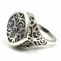 Ring Sterling Silver Signet