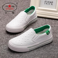 2017 Autumn New FEIYAO Children leather shoes Girls Boys Casual shoes Durable and Slip-on kid shoes