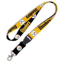 Pittsburgh Steelers Breakaway Lanyard - Gold/Black