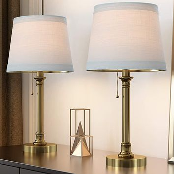 """Table Lamp Set of 2 for Bedroom Living Room 20""""."""