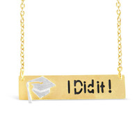 """I Did It!"" Necklace - Perfect Graduation Gift"