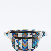 Ecote Carpet Tapestry Bumbag in Blue and White - Urban Outfitters