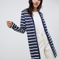 Ichi Stripe Jersey Cardigan at asos.com