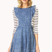 Darling Denim Pinafore Dress