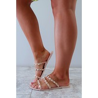 Your Favorite Studded Sandals: Nude/Gold
