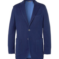 PRODUCT - Canali - Unstructured Slim-Fit Woven Cotton-Blend Jersey Blazer - 398304 | MR PORTER