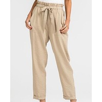 LUSH - Business Casual Linen Pants in Beige