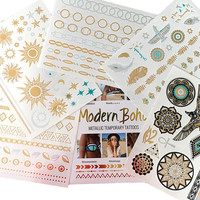 Egyptian Collection Metallic Tattoos Gold and Silver Flash By Modern Boho