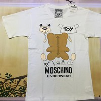 "Moschino White ""Bear"" Fashion Women T Shirt"