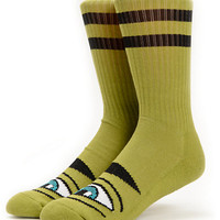 Toy Machine Sect Eye Olive Crew Socks