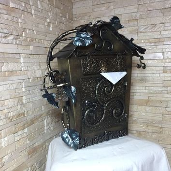 Wedding mailbox, wedding post box, wedding card box, wedding card holder, wedding mail box, wedding postbox, wedding mailbox with lock