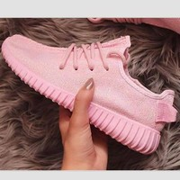 Adidas' Women Yeezy Boost Sneakers Running Sports Shoes Pink