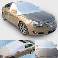 Universal Half Car Covers Sunshade Styling Foil Waterproof Thicken Snow Shield Anti-UV Snow Car Scratch Covers For Cars