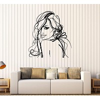 Vinyl Wall Decal Pretty Woman Beauty Salon Girl Room Stickers Unique Gift (235ig)