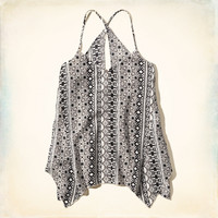 Asymmetrical Pattern Tunic Tank