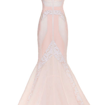 Boat Neck Pieced Gown by J. Mendel for Preorder on Moda Operandi