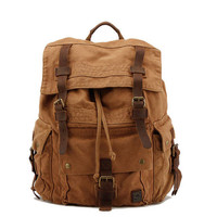Retro  Large Travel Backpack Hiking Outdoor Rucksack Thick Canvas Schoolbag Backpack