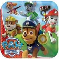 Paw Patrol Square Dinner Plates [8 Per Pack]