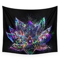 """Society6 Lotus Flower Glow Wall Tapestry Small: 51"""" x 60"""""""