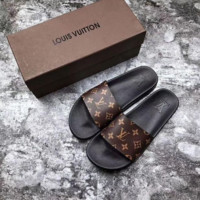 Louis Vuitton LV men and women Cloth slippers Shoes