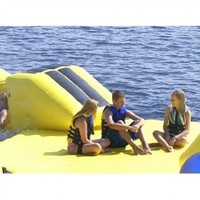 Rave Launch Pad Water Bouncer (72 X 64 X 59-Inch, Yellow/Blue)