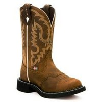 Sheplers: Justin Saddle Brown Gypsy Boots - Round