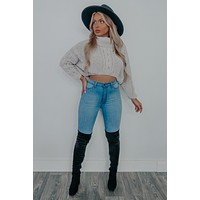 Never Too Much Cropped Sweater: Grey