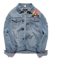 Palace Denim Jacket Men Jeans Jacket Slim Hip Hop Yeezus Tour Brand Clothing Streetwear Palace Denim Jackets