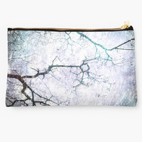 'Listen To The Winter Trees' Studio Pouch by AllyNCoxon