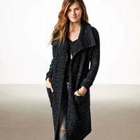 AE SHIMMER STITCH SWEATER COAT