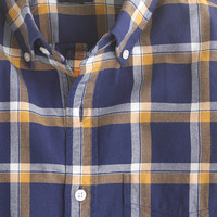 J.Crew Mens Slim Vintage Oxford Shirt In Navy Plaid