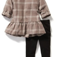Old Navy 2 Piece Plaid Tunic And Leggings Set