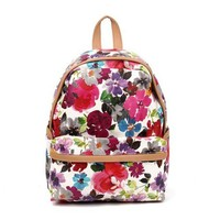 Printed Flora Backpack A