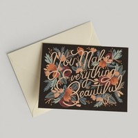 You Make Everything Beautiful Card By Rifle Paper Co.