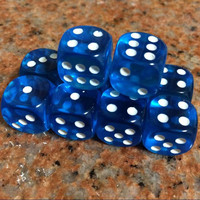 10Pcs set 16mm Clear Drinking Dice Acrylic Transparent Round Corner Dice Portable Table Playing Games 7Color